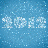 Christmas background. With stylized 2012 year, element for design, vector illustration Stock Images
