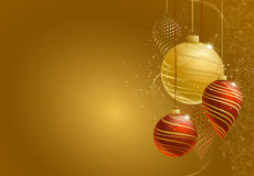 Christmas Background. In gold and red royalty free illustration
