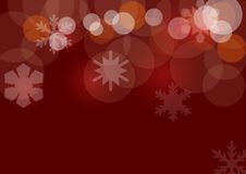 Christmas background. With decorative snowflakes on red background Royalty Free Stock Image