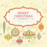 Christmas background. Vintage christmas background with place for text. Vector illustration royalty free illustration