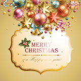 Christmas background. Christmas vintage background. Vector illustration royalty free illustration