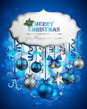Christmas background. Beautiful christmas background with place for text. Vector illustration royalty free illustration