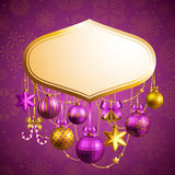 Christmas background. Beautiful christmas background with place for text. Vector illustration Stock Images