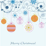 Christmas background. Ball decoration design Stock Photography