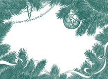 Christmas background. Handdrawn Christmas background with balls Stock Image