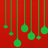 Christmas background. Christmas Corrugated paper stick  background Stock Photos