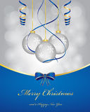 Christmas background. Christmas greetings background with balls Stock Photos