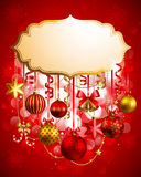 Christmas background. With place for text. Vector illustration Stock Photos
