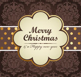 Christmas background. Christmas vintage background. Vector illustration Stock Images