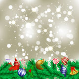 Christmas Background. Sparkling christmas background with decorations Royalty Free Stock Image