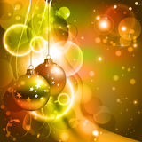 Christmas background. Bright Christmas background with two evening balls Royalty Free Stock Photos