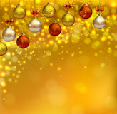 Christmas background. Bright glimmered Christmas background with shine evening balls Royalty Free Stock Photos