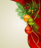 Christmas background. With three evening balls Stock Images
