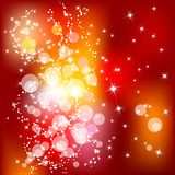 Christmas background. Abstract red Christmas background with white snowflakes Royalty Free Stock Images