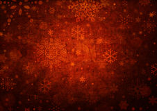 Christmas background. Snowflakes over red christmas background Royalty Free Stock Images