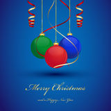 Christmas background. With hanging balls Royalty Free Stock Photography