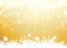 Christmas background. Christmas yellow blurry lights background Stock Photo