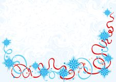 Christmas background. Vector Illustration of abstract christmas background with snowflakes Stock Image