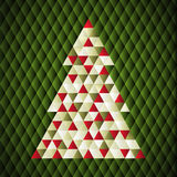 Christmas background. Vector illustration of Christmas tree. Abstract art Royalty Free Stock Photo