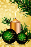 Christmas background. Vector gold and green christmas background Stock Photo