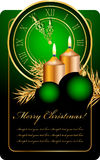 Christmas background. Vector green and gold christmas background Stock Photo