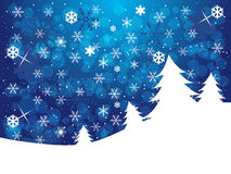 Christmas background. Blue winter background with snowflakes and copy space Stock Photo