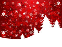 Christmas background. Red winter background with snowflakes and copy space Royalty Free Stock Image