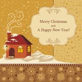 Christmas Background. Christmas decorative background with seasonal greetings Royalty Free Stock Image