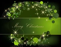 Christmas  background. Gold and green Royalty Free Stock Photography