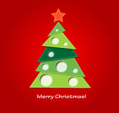 Christmas background. With tree and bow Stock Photography
