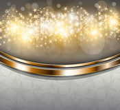 Christmas Background. Twinkly Lights and Stars Christmas Background, vector Royalty Free Stock Photo