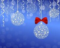Christmas background. Illustration - christmas decoration, festoon and ribbon Stock Image