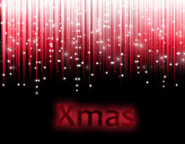 Christmas background. Red written xmas Royalty Free Stock Photo