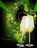 Christmas background. Gold and green Royalty Free Stock Photos