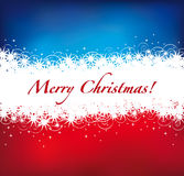 Christmas background. Red christmas lights on a red blue background Royalty Free Stock Photos