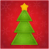 Christmas background. New Year background with Christmas tree and star made of leather. Vector illustration vector illustration