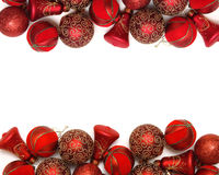 Christmas background. With ornaments and decorations Stock Photos