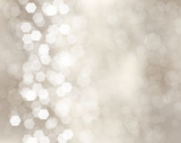 Christmas background. Silver christmas background with bokeh lights Royalty Free Stock Photography