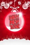 Christmas background. Happy new year background with plastecine royalty free illustration