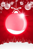 Christmas background. Happy new year background with plastecine trees and snow sample your text stock illustration