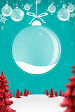 Christmas background. Happy new year background with plastecine trees and snow sample your text vector illustration
