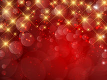 Christmas background. Decorative Christmas background of snowflakes and stars stock illustration