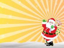 Christmas background. An illustration image for Santa Claus with gifts Stock Image