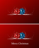Christmas background. Red christmas background with balls and curves Royalty Free Illustration