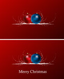 Christmas  background. Red christmas  background with balls and curves Royalty Free Stock Images