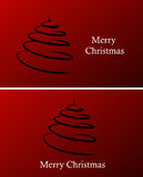 Christmas  background. Red christmas  background with tree Royalty Free Stock Image