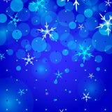 Christmas Background. Vibrant blue holiday background illustration Stock Image