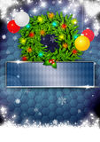 Christmas background. Christmas business or party photo background with space Stock Images