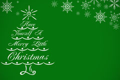 Christmas background. With snowflakes and christmas tree Stock Image