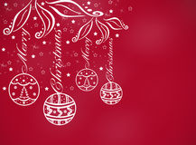 Christmas background. With balls vector illustration
